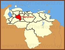 Португеса на карте Венесуэлы