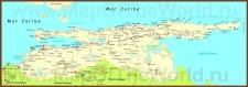 Подробная карта штата Сукре