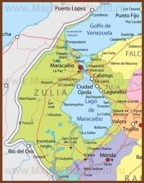 Подробная карта штата Сулия