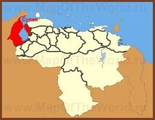 Сулия на карте Венесуэлы