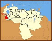Тачира на карте Венесуэлы