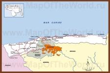 Подробная карта штата Варгас