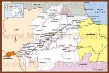 Подробная карта штата Яракуй