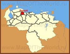 Яракуй на карте Венесуэлы