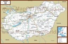 Автомобильная карта дорог Венгрии