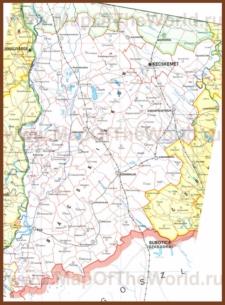 Подробная карта медье Бач-Кишкун