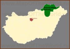 Боршод-Абауй-Земплен на карте Венгрии