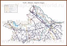 Подробная карта медье Дьёр-Мошон-Шопрон