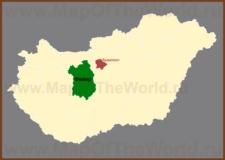 Фейер на карте Венгрии