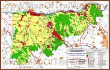 Подробная карта медье Комаром-Эстергом