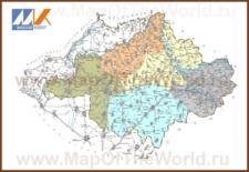 Подробная карта медье Сабольч-Сатмар-Берег