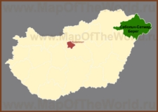 Сабольч-Сатмар-Берег на карте Венгрии