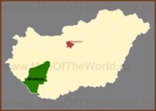 Шомодь на карте Венгрии