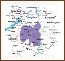 Подробная карта медье Тольна
