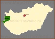 Ваш на карте Венгрии