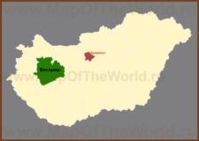 Веспрем на карте Венгрии
