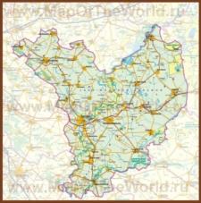 Подробная карта медье Яс-Надькун-Сольнок