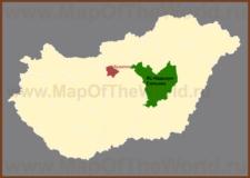Яс-Надькун-Сольнок на карте Венгрии