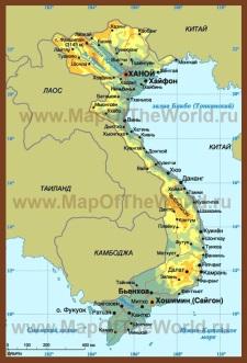 Карта вьетнама на русском языке