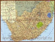 Карта ЮАР на русском языке