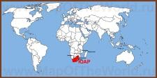 ЮАР на карте мира