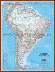 Подробная карта Южной Америки с городами