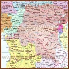 Карта Демократической Республики Конго (Заир) на русском языке